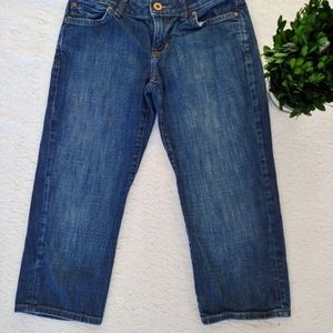 GAP curvy low rise stretch capri blue jeans size 1
